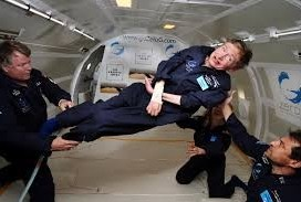 Stephen Hawking in no gravity environment